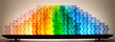 "Lucie Boucher and Bernie Huebner | Celebration | Glass | 13"" X 42"" | $3,450.00"
