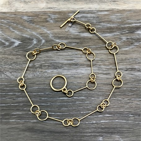 Gold Plated Necklace: Large Link Chain 18