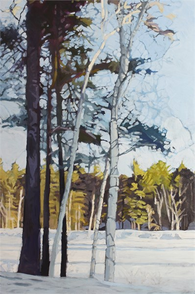 "Liz Hoag | Stand of Trees | Acrylic | 60"" X 40"" 