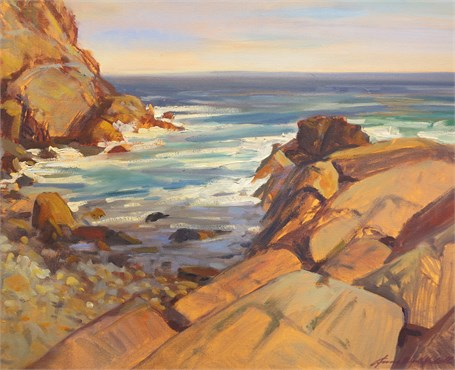 "Anne Burnett-Hidell | Warm Light Legacy, Monhegan | Oil on Canvas | 16"" X 20"" 