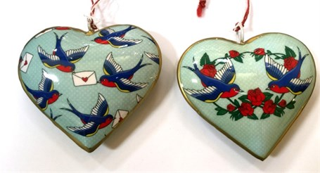 Ornament - Robins with Love Letter