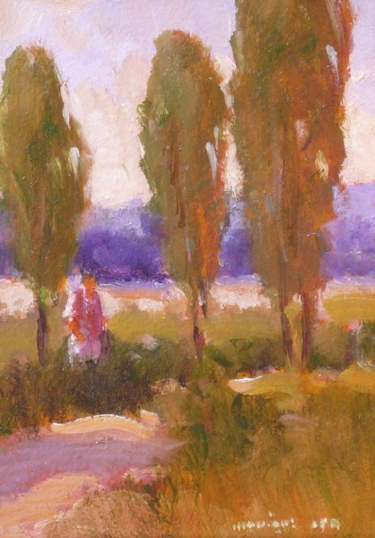 "Monique Sakellarios | On the Way | Oil | 7"" X 5"" 