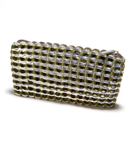 Mini Clutch - Olive Crocheted Pull Tab