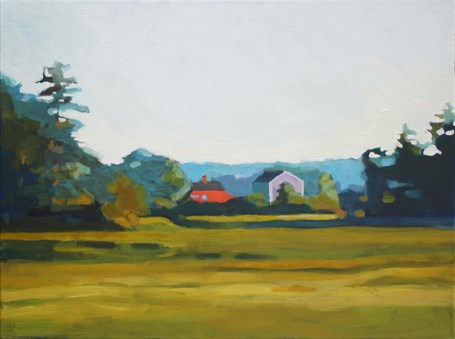 "Liz Hoag | Maine Farm | Acrylic | 18"" X 24"" 
