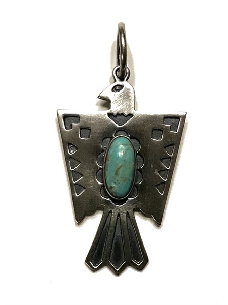 Pendant - Large Phoenix with Turquoise