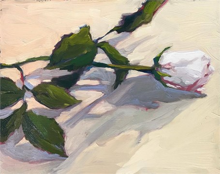 "Margaret Gerding | Day 19 (Rose) | Oil | 8"" X 10"" 