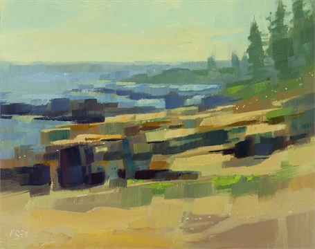 "Philip Frey | Just the Surface | Oil | 8"" X 10"" 