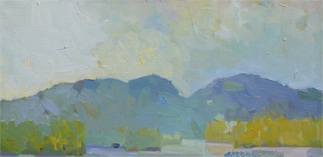 "Henry Isaacs | Western Mountains | Oil | 12"" X 24"" 