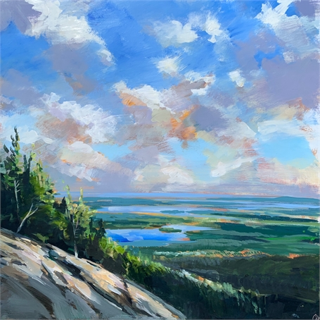"Craig Mooney | Cliffside | Oil on Panel | 36"" X 36"" 
