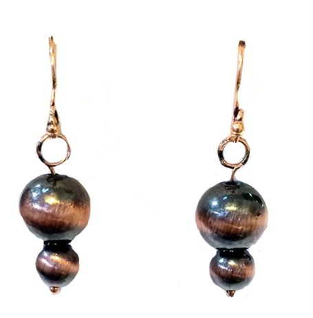 Earrings- Antique Copper Finish Beads - Assorted Styles