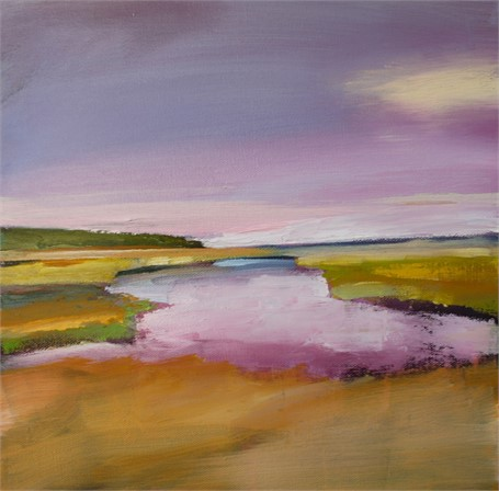 "Claire Bigbee | Salt Marsh River #3 | Oil | 12"" X 12"" 