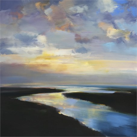 "Craig Mooney | Soft Coastal Light | Oil on Canvas | 48"" X 48"" 