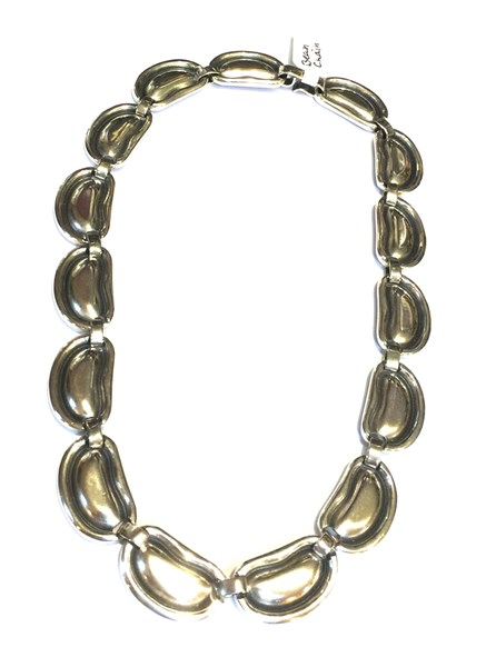 Necklace - Bean Chain - Sterling Silver - C-835