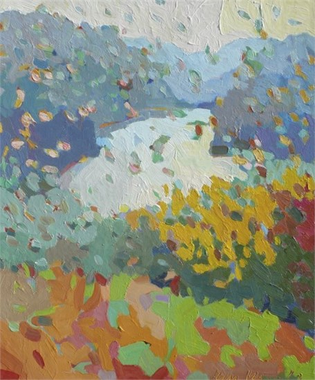 "Henry Isaacs | Above Kettle Pond | Oil on Canvas | 24"" X 20"" 
