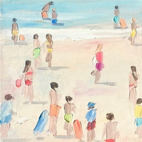"Bethany Harper Williams | Two Orange Boogie Boards | Oil | 14"" X 14"" 