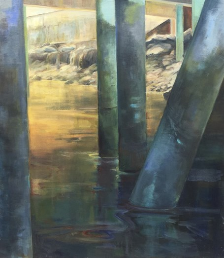 "Holly Ready | Pier Passage | Oil on Canvas | 48"" X 42"" 