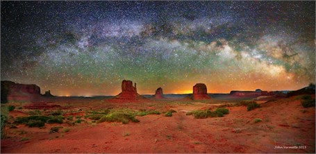 Milky Way Over - Monument Valley Arizona - Drop Shipping Available