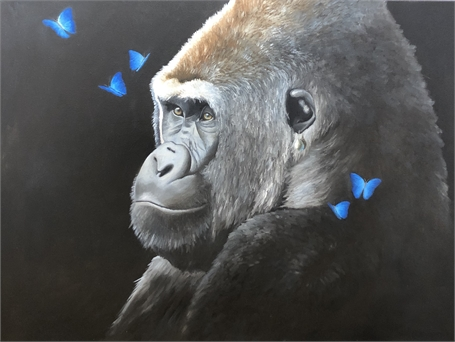 Gorilla with a Pearl Earring