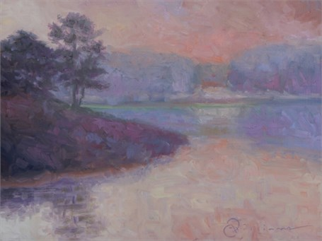 "Abbie Williams | Misty Morning | Oil | 12"" X 16"" 
