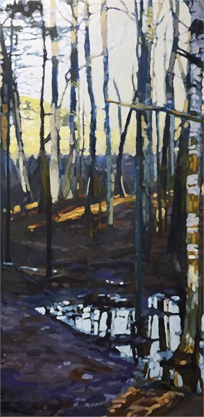 "Liz Hoag | Puddle | Acrylic | 48"" X 24"" 
