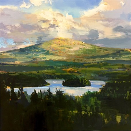 "Craig Mooney | Mountain Lake | Oil on Canvas | 47"" X 47"" 