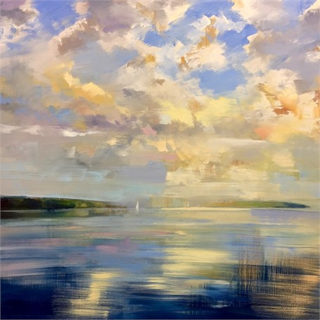 "Craig Mooney | Celestial Harbor Light | Oil on Canvas | 60"" X 60"" 
