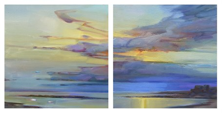 Early Day, Still Cove, Diptych