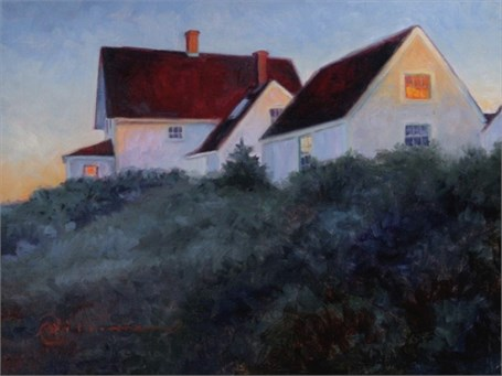 "Abbie Williams | 5 AM at the Lighthouse | Oil | 12"" X 16"" 