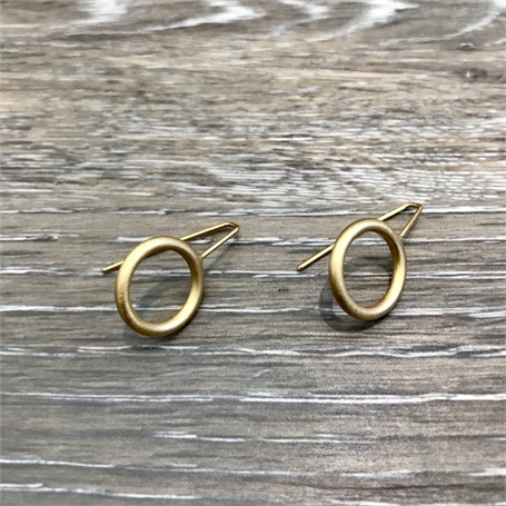 Gold Plated Earrings: Mini Circle