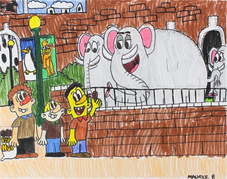 Lynn and Walt the Elephant