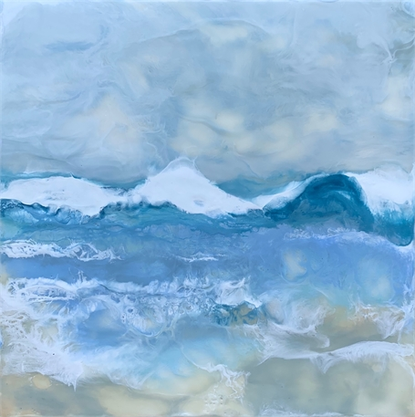 "Kathy Ostrander Roberts | Gooches Beach 1 | Encaustic | 12"" X 12"" 