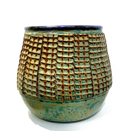 "Richard Winslow | Purple Pot | Ceramic | 6"" X 6"" | Sold"