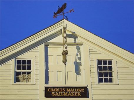 "William B. Hoyt   Charles Mallory Sailmaker   Oil on Linen   24"" X 32""   Sold"