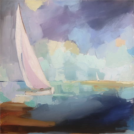 "Claire Bigbee | Unwinding | Oil on Canvas | 24"" X 24"" 