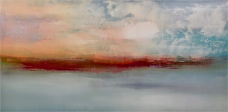 "Charles Bluett | Dusk Approaches the Point - Designer's Choice | Acrylic on Canvas | 24"" X 48"" 