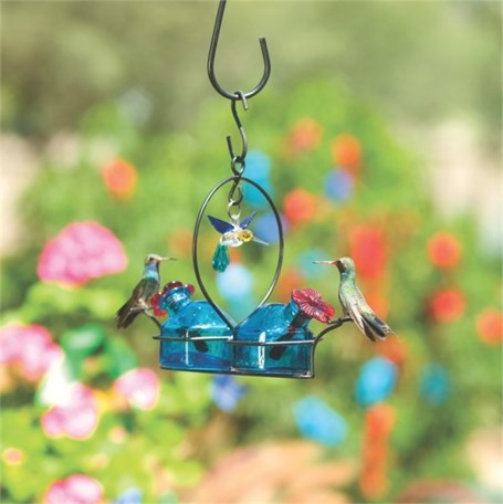 Hummingbird Feeder - 6oz Bouquet 2 Deluxe in Aqua