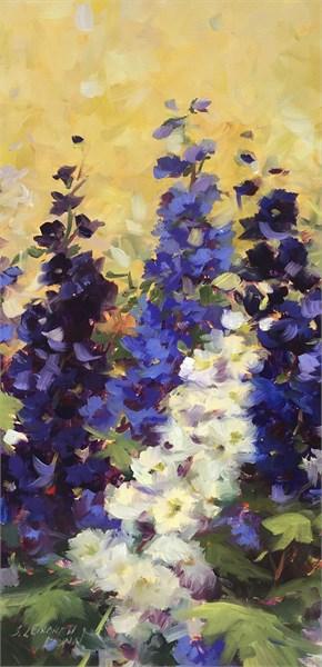 Purple and White Delphinium