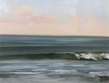 "Jill Matthews | Perfect End | Oil on Canvas | 30"" X 40"" 