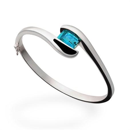 Bracelet - Blue Topaz & Sterling Silver