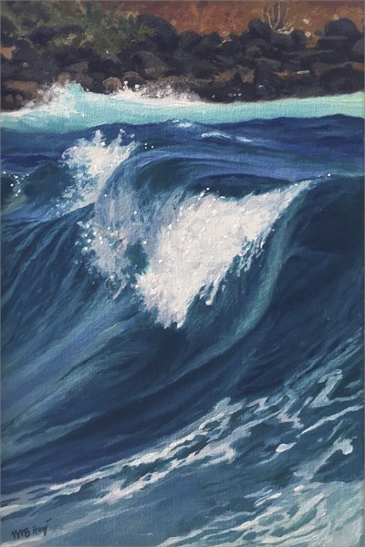 "William B. Hoyt | Study for Wave | Oil | 10"" X 8"" 