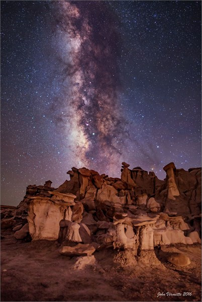 Milky Way Over - Bisti Badlands New Mexico - Drop Shipping Available