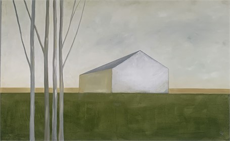 "Ingunn Milla Joergensen | Ogunquit Homestead | Oil on Canvas | 30"" X 48"" 