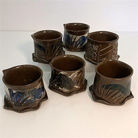 "Brendan Roddy | Coastal Cups - Dark Body | Ceramic | 2.75"" X 4"" 