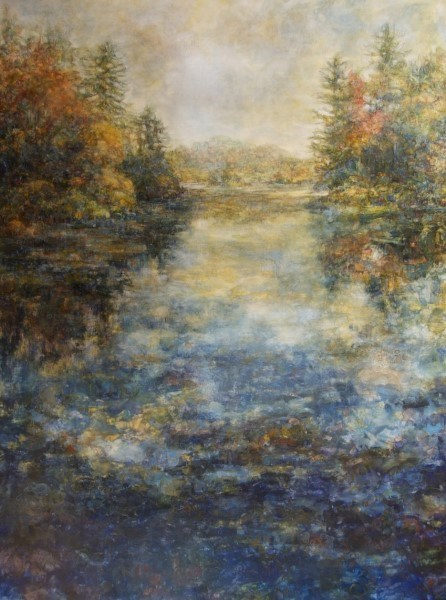 "Susan Wahlrab | Reflection | Varnished Watercolor on Archival Claybord | 48"" X 36"" 