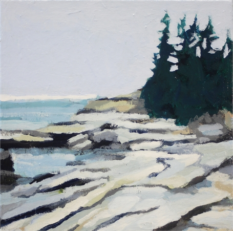 "Liz Hoag | Horizon | Acrylic on Canvas | 10"" X 10"" 
