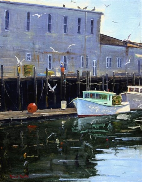 "Brad Betts | Bait | Oil on Linen | 14"" X 11"" 
