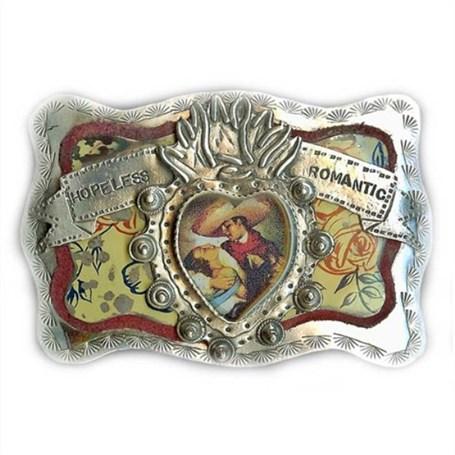 Belt Buckle - Sterling Silver - Hopeless Romatic