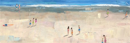 "Bethany Harper Williams | Secrets of Summer | Oil | 20"" X 60"" 