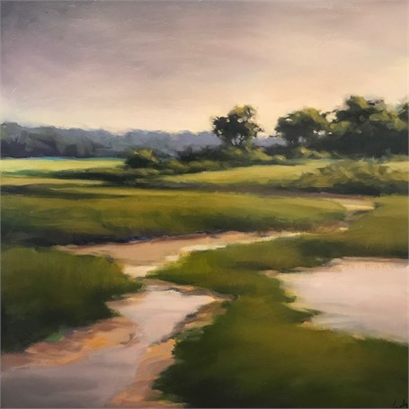 "Margaret Gerding | Near Parson's Beach | Oil on Panel | 16"" X 16"" 