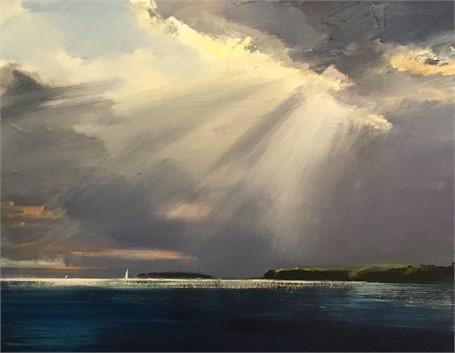 "Craig Mooney | Island Sail - People's Choice #2 | Oil on Canvas | 24"" X 30"" 